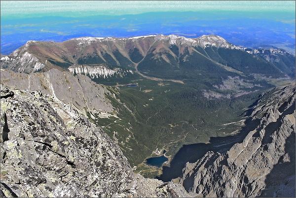 Belianske Tatry a Dolina Kežmarskej Bielej vody z Malého Pyšného štítu