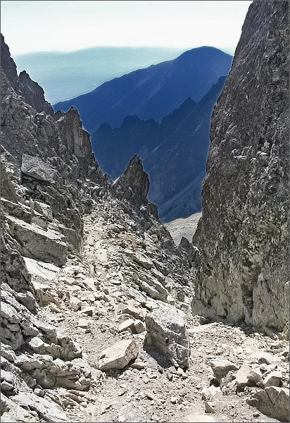 Malá Studená dolina z Malej Lastovičej štrbiny