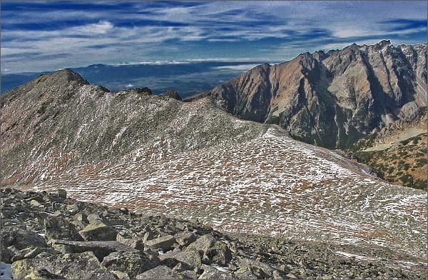 Horní patro Štôlskej doliny a Tupá z výstupu na Končistú