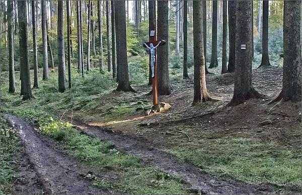 Cestou na Duranu (kříž v lese)