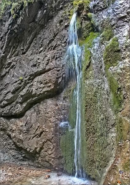 Malý Kyseľ, Machový vodopád