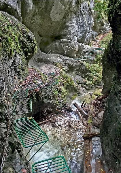 Kyseľ. Ferrata HZS nad Obrovským vodopádom