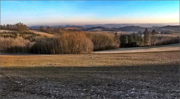 Pohled od Rozseče do boskovické brázdy