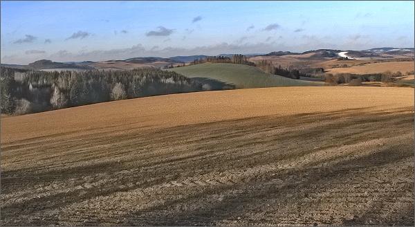 Pohled od Rozseče nad Kunštátem k Olešnici