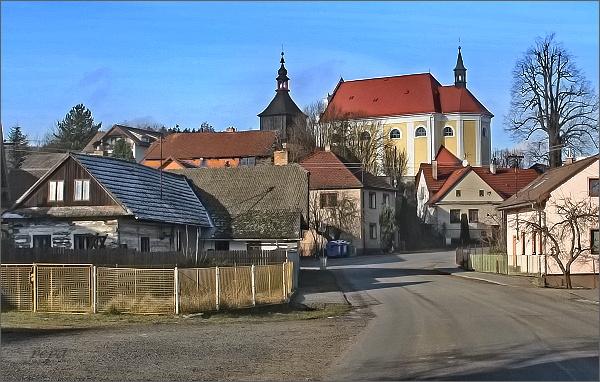 Trpín s kostelem sv. Václava