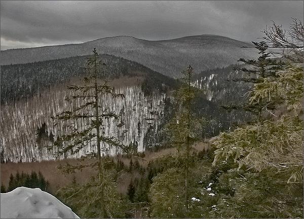 Karliny kameny a Černý vrch z Kamzičí skály