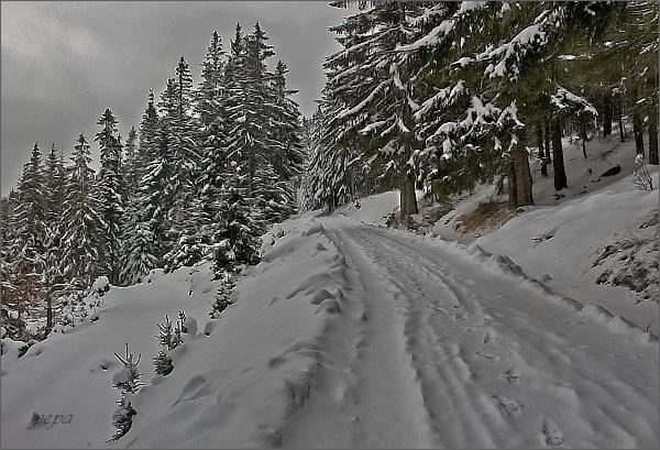 Solná cesta, sněhu přibývá