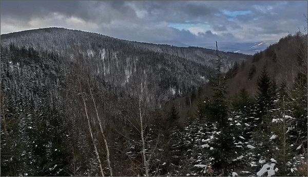 Pohled do údolí Šumného potoka