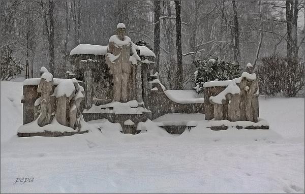 Pomník Vinzenze Priessnitze v Jeseníku