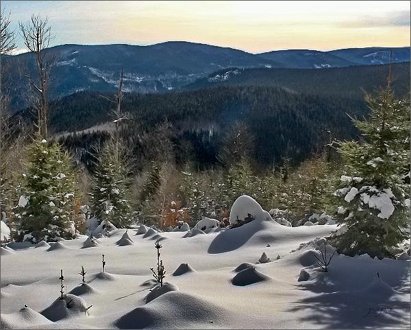 Žárový vrch a Lyra od Solné chaty