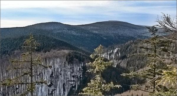 Karliny kameny a Černý vrch od Kamzičí skály