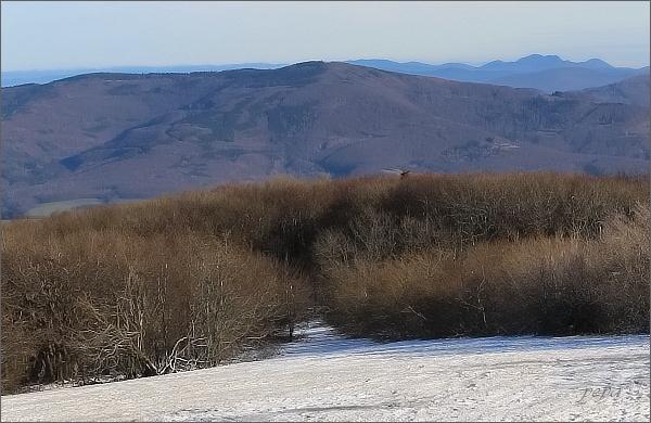 Velký Lopeník z Velké Javořiny. Vpravo Chmeľová