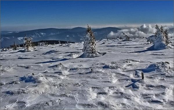 Pohled z Keprníku k Medvědské hornatině