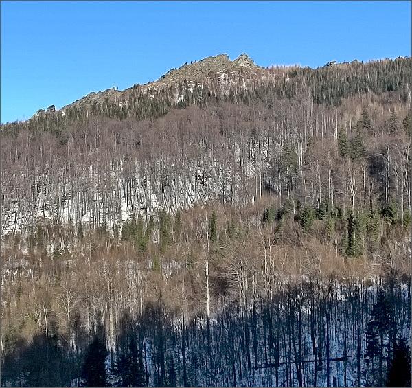 Obří skály od údolí Vražedného potoka