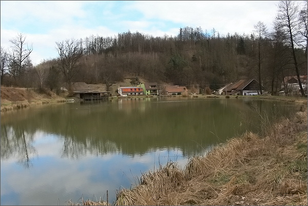 Býkovice, rybník u Porčova mlýna