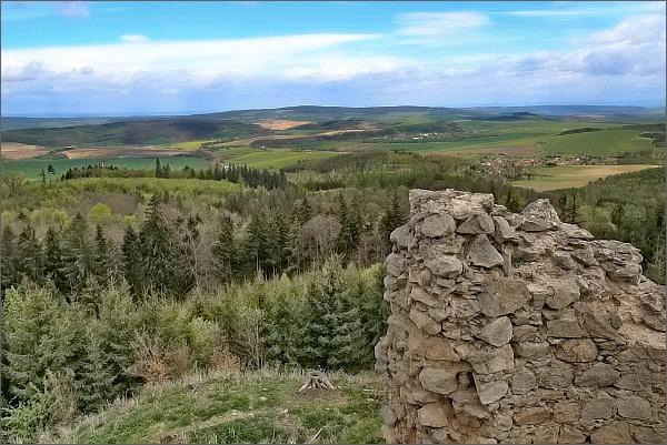 Hrad Střílky a pohledy do okolí