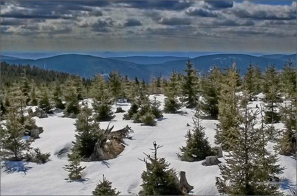Žárový vrch a Lyra z Jeleních louček
