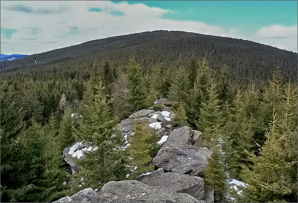 Černý vrch z Karliných kamenů