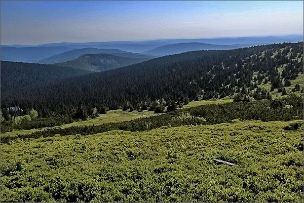 Lyra, Žárový vrch a Vysoká hora ze svahů Vysoké hole
