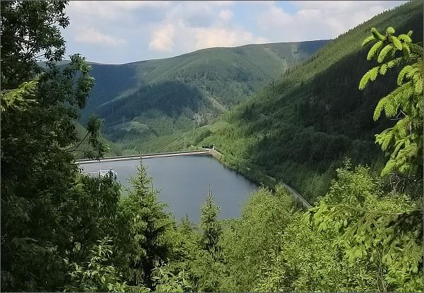 Dlouhé stráně, dolní přehrada