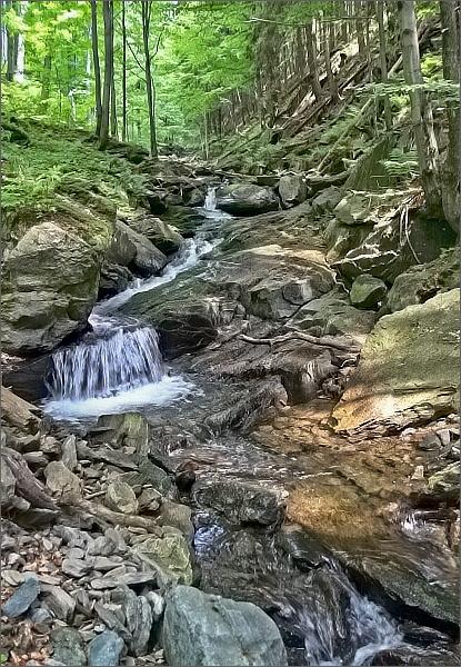 Kaskády a vodopády Merty
