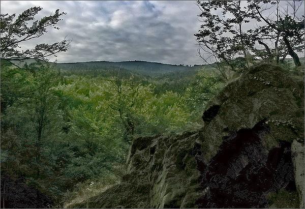 Borůvková hora ze Šafářovy skály