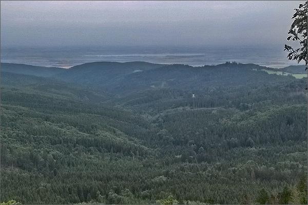 Černý vrch. Pohled k polským jezerům