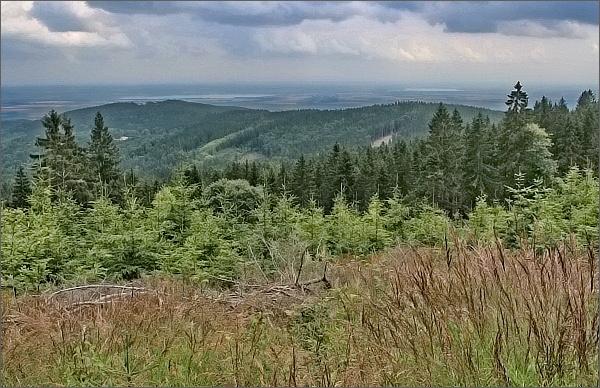 Otmuchovské a Niské jezero od lesního baru