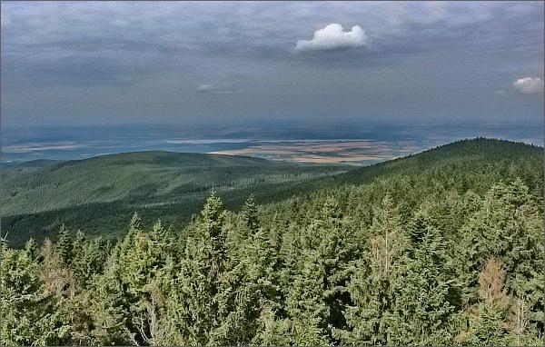 Borůvková hora, pohled k polským jezerům