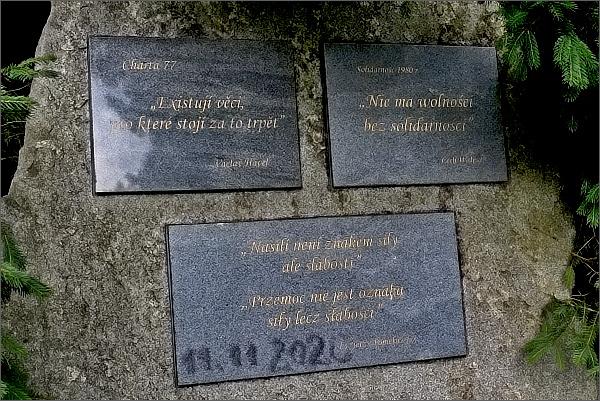 Borůvková hora, vzpomínka na disidenty